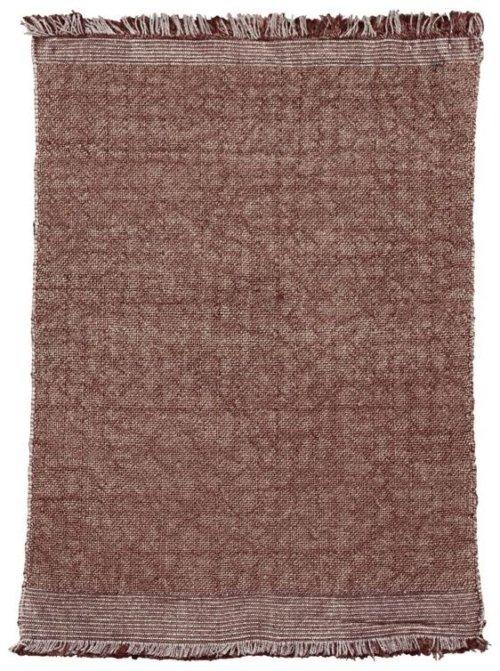 På billedet ser du variationen Gulvtæppe, Shander fra brandet House Doctor i en størrelse 60 x 90 cm. i farven Henna
