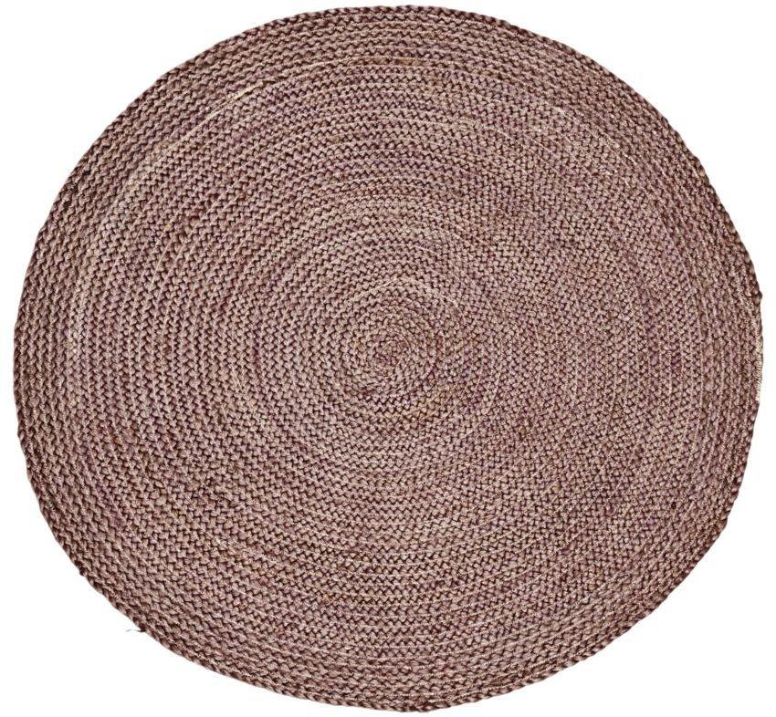 Image of   Gulvtæppe, Structure, Rundt by House Doctor (D: 100 cm., Brændt henna)