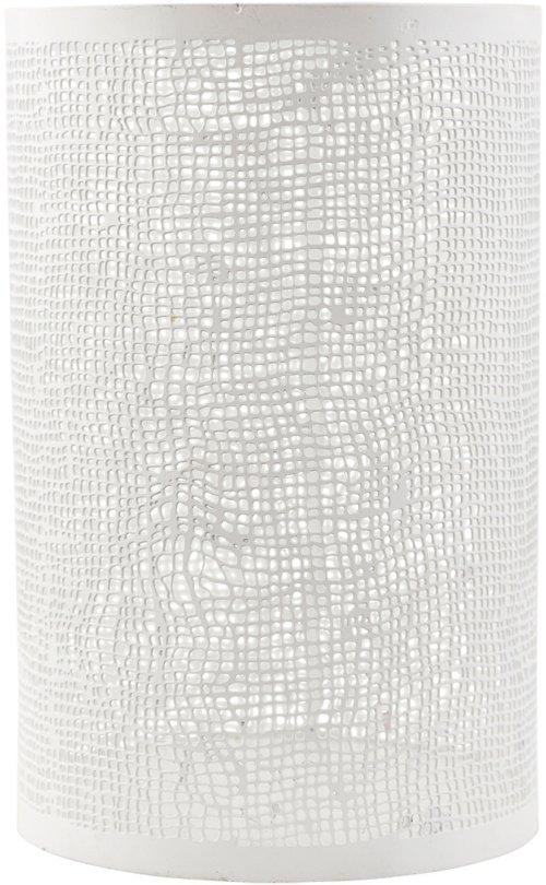 På billedet ser du variationen fra brandet House Doctor i en størrelse D: 12,5 cm. x H: 19,5 cm. i farven Hvid