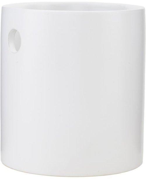 På billedet ser du variationen fra brandet House Doctor i en størrelse D: 15 cm. x H: 16 cm. i farven Hvid