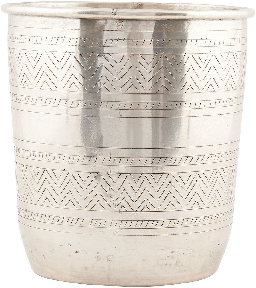 Image of   Ethnic, Potte by House Doctor (D: 14/18 cm. x H: 20 cm., Sølv)
