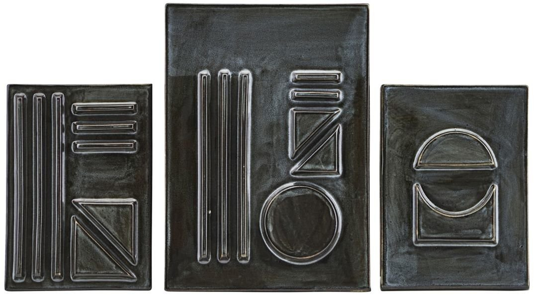 Image of   Geometric, Relief by House Doctor (L: 29.5 x 21 cm. S: 21 x 15 cm., Sort)