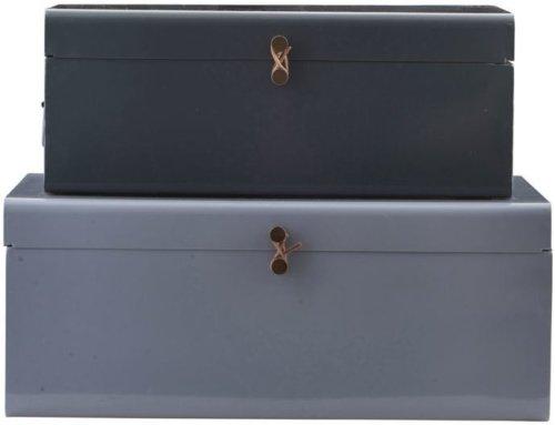 På billedet ser du variationen fra brandet House Doctor i en størrelse Sæt á 2 stk. i farven Lyseblå/Mørkeblå