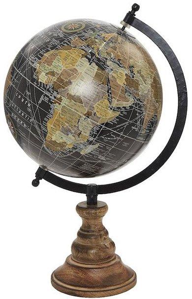 På billedet ser du variationen Globus med træfod, 20cm fra brandet Saeil i en størrelse D: 20 cm. i farven Sort