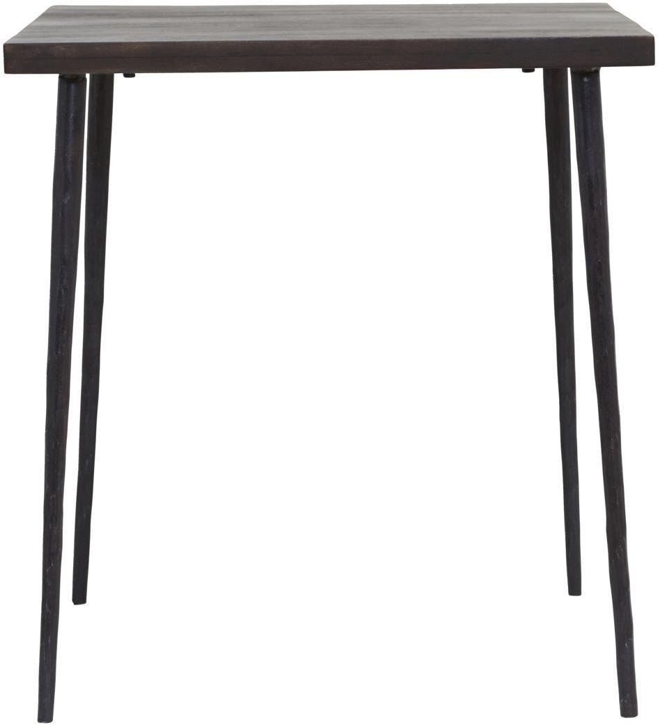 Billede af Spisebord, Slated, Lille bord by House Doctor (H: 76 cm. B: 70 cm. L: 70 cm., Sort)