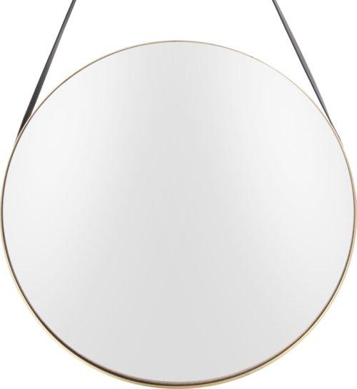 På billedet ser du et stemningsbillede (#1) fra Spejl, Balanced, Round fra brandet Present Time i en størrelse D: 47 cm. i farven Guld