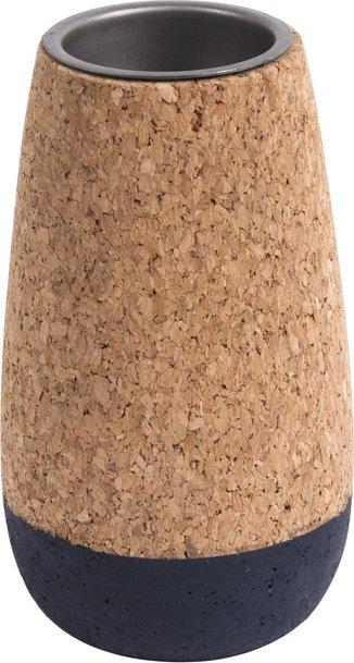 På billedet ser du et stemningsbillede (#1) fra Fyrfadsstage, Set cone fra brandet Present Time i en størrelse D. 7cm, H. 9cm, 12cm & 15cm i farven Kork|Blå