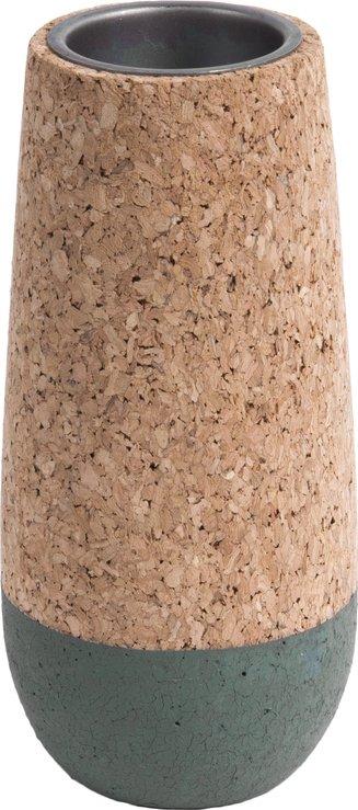 På billedet ser du et stemningsbillede (#2) fra Fyrfadsstage, Set cone fra brandet Present Time i en størrelse D. 7cm, H. 9cm, 12cm & 15cm i farven Kork|Grøn