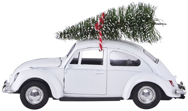 Image of   Dekoration, Xmas car by House Doctor (L: 12,5 cm., Hvid)