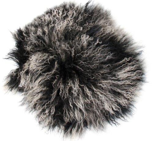 På billedet ser du variationen Sædeskind, Tibetan fra brandet Preform i en størrelse Ø: 38 cm. i farven Grå/Sort