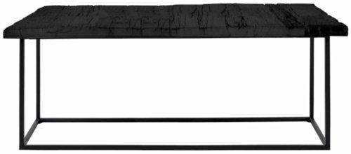 På billedet ser du variationen Hayes, Sofabord i massiv træ, aflang fra brandet Canett i en størrelse H: 42 cm. B: 45 cm. L: 130 cm. i farven Sort/Sort