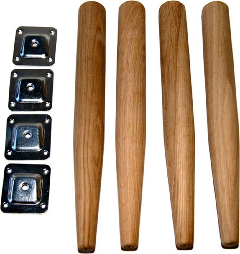 Billede af Træben med monteringsbeslag, Space. by House of Sander (Ø: 4 cm. H: 34 cm., Natur)
