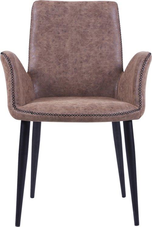 På billedet ser du variationen Spisebordsstol, Will fra brandet Preform i en størrelse H: 82 cm. B: 59 cm. L: 62 cm. i farven Brun/Sort