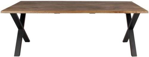 På billedet ser du variationen Plankebord, Curve wave, X base fra brandet Preform i en størrelse H: 74 cm. B: 95 cm. L: 200 cm. i farven Mørk Natur/Sort
