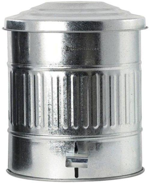 På billedet ser du variationen Affaldsspand fra brandet House Doctor i en størrelse D: 25,5 cm. x H: 30 cm. i farven Zink