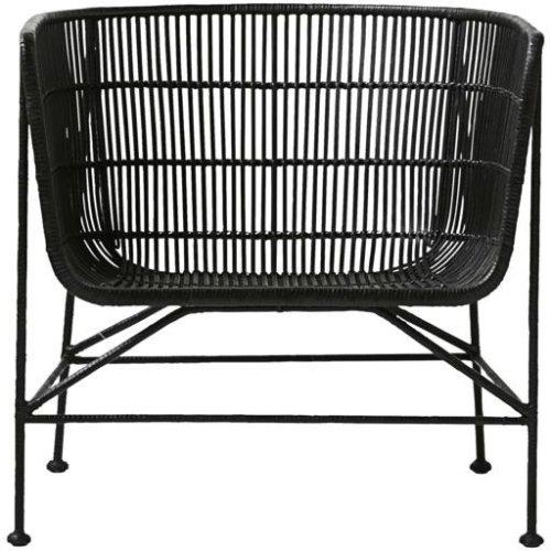 På billedet ser du variationen Arm stol, Coon fra brandet House Doctor i en størrelse 70 x 65,5 cm. x H: 70 cm. i farven Sort