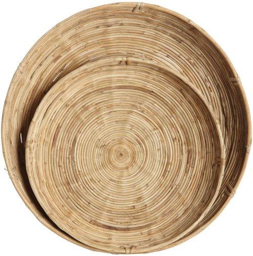 På billedet ser du variationen Chaka, Bakke fra brandet House Doctor i en størrelse S: D: 32 cm. x H: 6,5 cm. L: D: 40 cm. x H: 9,5 cm. i farven Natur