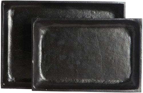 På billedet ser du variationen Ria, Bakke, Firkantet fra brandet House Doctor i en størrelse 30 x 20 cm. x H: 3 cm. i farven Sort