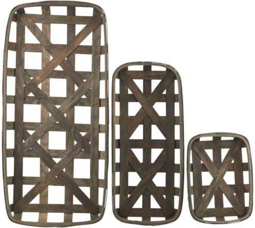 På billedet ser du variationen Bakke, Wood, Retangular fra brandet House Doctor i en størrelse H: 9 cm. B: 46 cm. L: 100 cm. i farven Mørk Natur