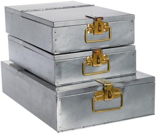 På billedet ser du variationen Bankboks, Single fra brandet House Doctor i en størrelse 42,5 x 28,5 cm. x H: 10 cm. i farven Jern