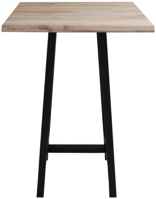 På billedet ser du variationen Barbord, Curve plade, Bar base fra brandet Preform i en størrelse H: 103 cm. B: 72 cm. L: 72 cm. i farven Lys Natur/Sort