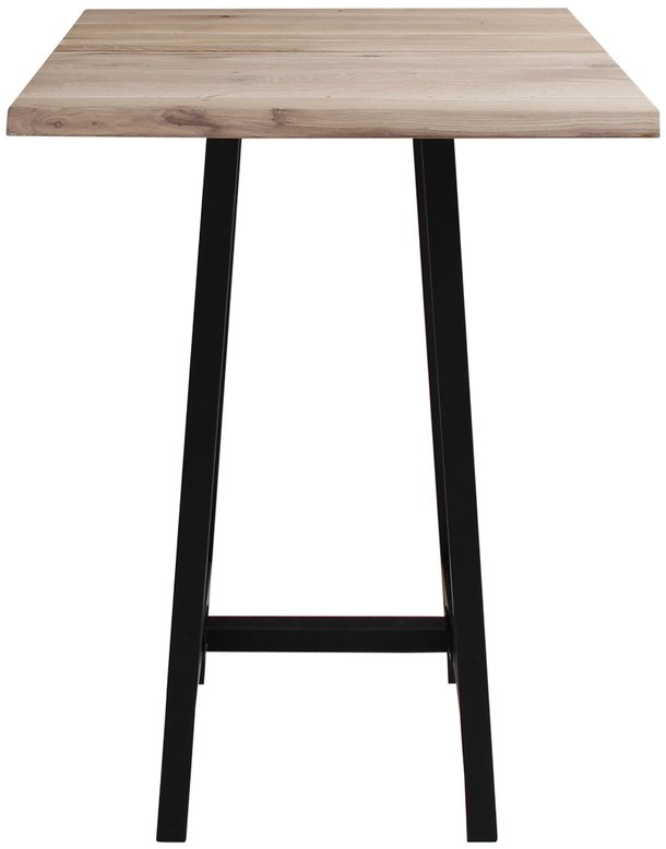 Image of Barbord, Komplet sæt, Curve plade + Bar stel by House of Sander (H: 103 cm. B: 72 cm. L: 72 cm., Lys Natur/Sort)