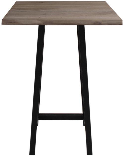 På billedet ser du variationen Barbord, Curve plade, Bar base fra brandet Preform i en størrelse H: 103 cm. B: 72 cm. L: 72 cm. i farven Mørk Natur/Sort