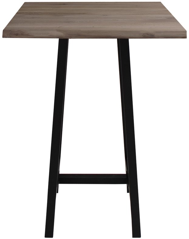 Image of Barbord, Komplet sæt, Curve plade + Bar stel by House of Sander (H: 103 cm. B: 72 cm. L: 72 cm., Mørk Natur/Sort)