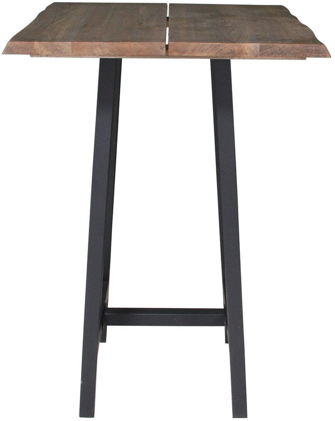 Image of   Barbord, Komplet sæt, Curve plade + Bar stel by House of Sander (H: 103 cm. B: 80 cm. L: 80 cm., Mørk Natur/Sort)