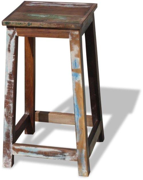 På billedet ser du Barstol i genbrugstræ, Sophie fra brandet OBUZI i en størrelse H: 70 cm. B: 40 cm. L: 40 cm. i farven Multi