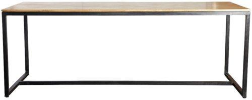 På billedet ser du variationen Form, Bord fra brandet House Doctor i en størrelse 200 x 80 cm. x H: 74 cm. i farven Natur/Jern