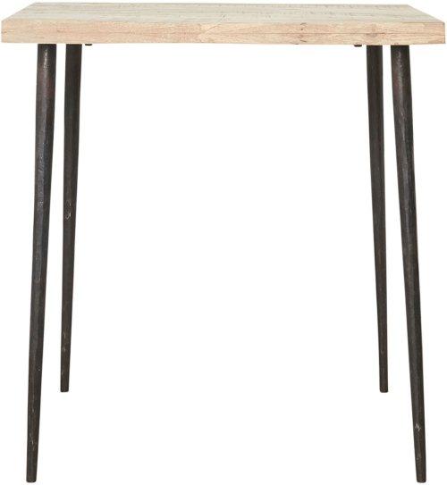 På billedet ser du variationen Spisebord, Slated fra brandet House Doctor i en størrelse H: 76 cm. B: 70 cm. L: 70 cm. i farven Natur/Jern