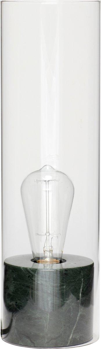 Image of   Bordlampe, Borghildr by Hübsch (Ø: 12 cm. H: 40 cm., Grøn)