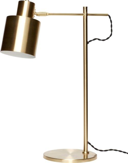 På billedet ser du variationen Bordlampe, Embla fra brandet Hübsch i en størrelse Ø: 38 cm. H: 56 cm. i farven Messing