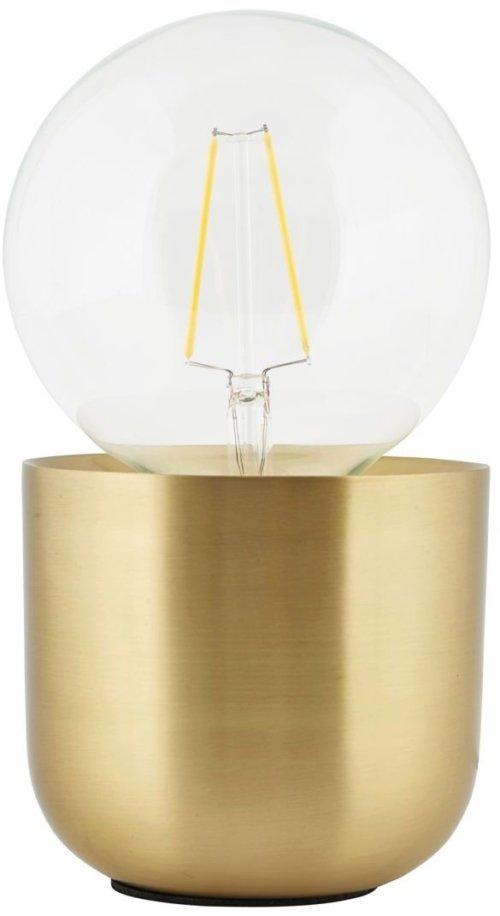 På billedet ser du variationen Gleam, Bordlampe fra brandet House Doctor i en størrelse D: 12 cm. x H: 10.5 cm. i farven Messing