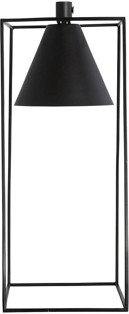 På billedet ser du variationen Kubix, Bordlampe fra brandet House Doctor i en størrelse 18 x 18 cm. x H: 42 cm. i farven Sort/Hvid