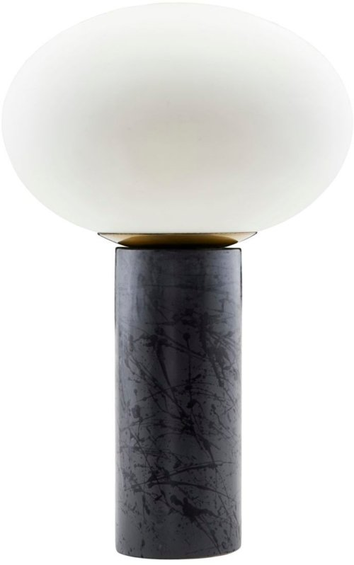 På billedet ser du variationen Opal, Bordlampe fra brandet House Doctor i en størrelse D: 30/20 cm. x H: 45 cm. i farven Blå/Hvid
