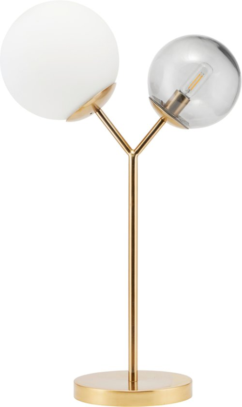 På billedet ser du variationen Bordlampe, Twice fra brandet House Doctor i en størrelse B: 42 cm. i farven Messing