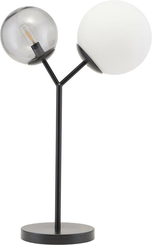 På billedet ser du variationen Bordlampe, Twice fra brandet House Doctor i en størrelse H: 42 cm. i farven Sort