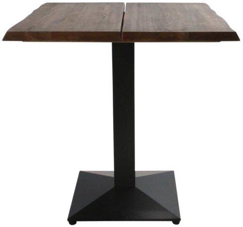 På billedet ser du variationen Cafebord, Curve plade, Austin Cafe base fra brandet Preform i en størrelse H: 75 cm. B: 72 cm. L: 72 cm. i farven Mørk Natur/Sort