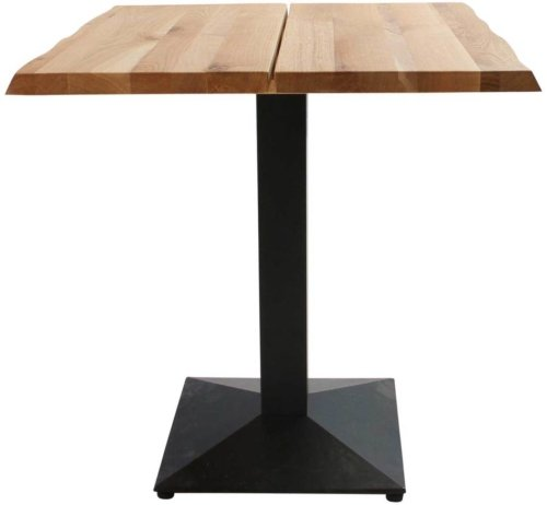 På billedet ser du variationen Cafebord, Curve plade, Austin Cafe base fra brandet Preform i en størrelse H: 75 cm. B: 80 cm. L: 80 cm. i farven Natur/Sort