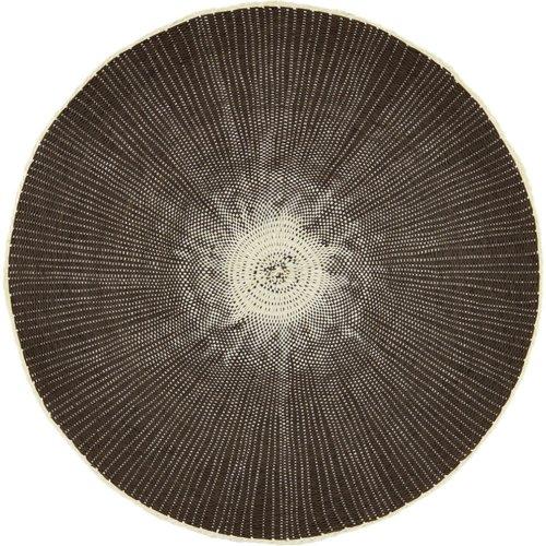 På billedet ser du variationen Circle, Dækkeserviet fra brandet House Doctor i en størrelse D: 38 cm. i farven Natur/Grå