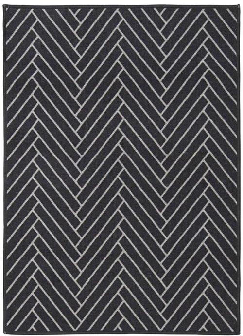 På billedet ser du variationen fra brandet House Doctor i en størrelse 90 x 120 cm. i farven Sort/Lysegrå