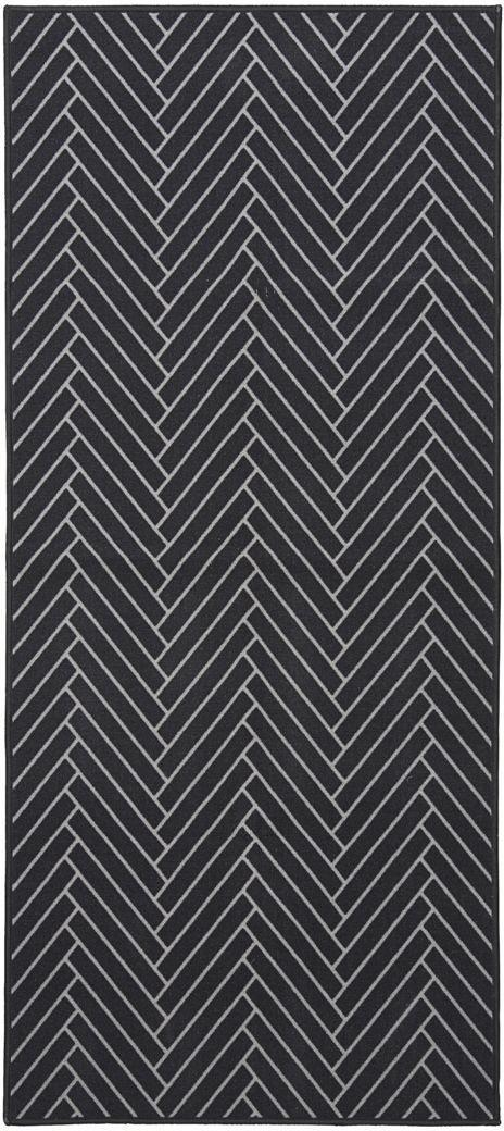 På billedet ser du variationen fra brandet House Doctor i en størrelse 90 x 200 cm. i farven Sort/Lysegrå