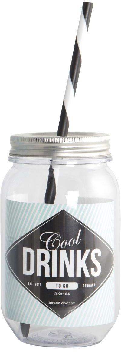 På billedet ser du variationen Drikkedunk m. sugerør fra brandet House Doctor i en størrelse 550 ml. i farven Klar