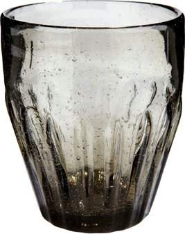 Image of   Drikkeglas/riller, Candida by Hübsch (Ø: 9 cm. H: 10 cm., Grå)