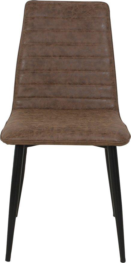 På billedet ser du Spisebordsstol, Ella fra brandet Preform i en størrelse H: 89 cm. B: 46 cm. L: 46 cm. i farven Brun/Sort