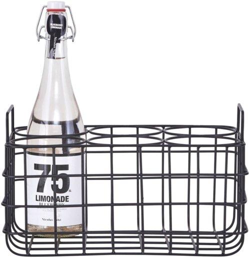 På billedet ser du Flaskeholder, 4 & 6 fra brandet House Doctor i en størrelse 31 x 21 cm. x H: 19 cm. i farven Sort