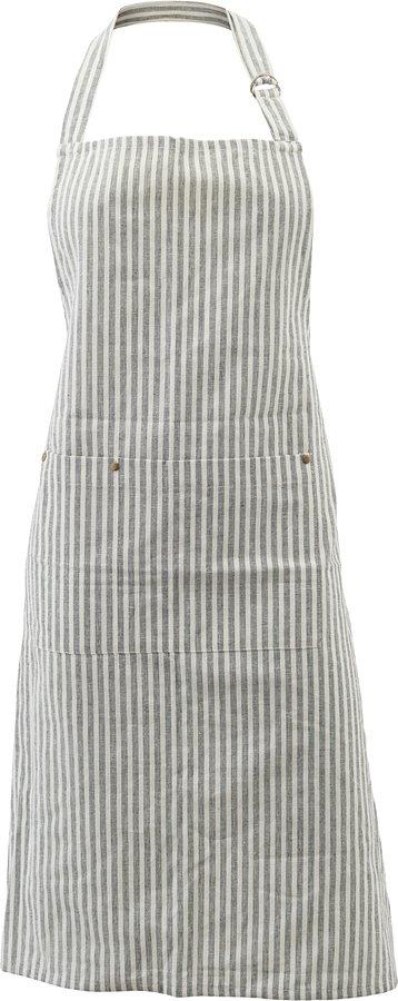 På billedet ser du variationen Forklæde, Polly, Stripe fra brandet House Doctor i en størrelse B: 84 cm. L: 90 cm. i farven Hvid/Grå