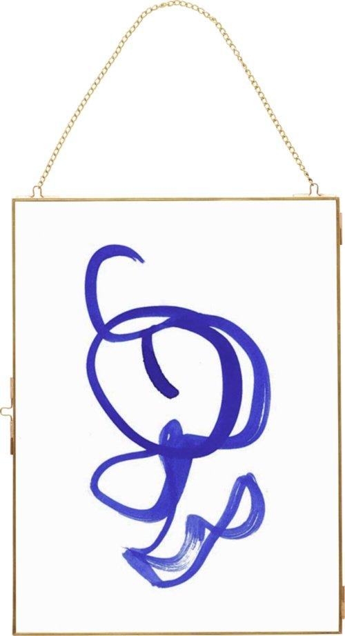 På billedet ser du variationen Fotoramme, m/kæde, u/foto, Nechtan fra brandet Hübsch i en størrelse H: 40 cm. B: 30 cm. i farven Messing